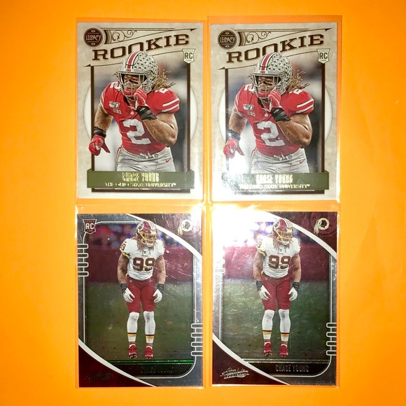 Chase Young Panini NFL Rookie Football Card Lot